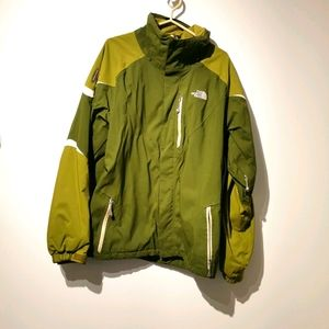 North face XL green hyvent jacket with recco